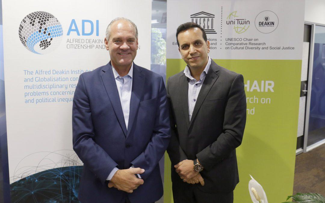 Professor Fethi Mansouri meets with Professor Jon Pahl from the United Lutheran Seminary (Philadelphia)